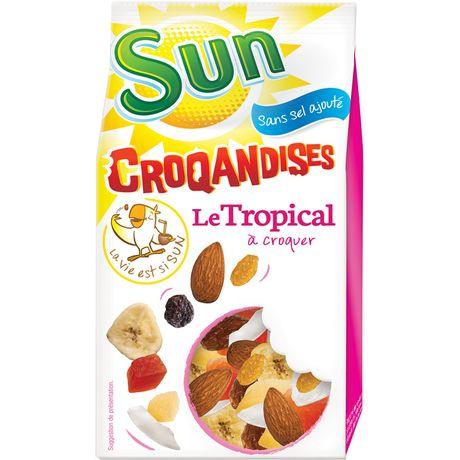 SUN Mélange Tropical Croqandises 250 g - Lot de 6