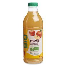 Auchan bio Pur jus de pommes 1L