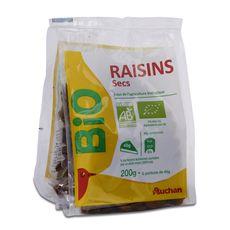 Auchan raisins bio 200g