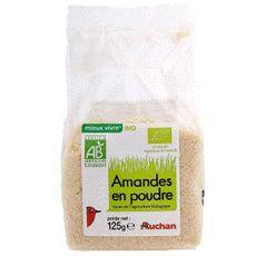 Auchan bio amande en poudre 125g