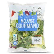 Auchan Mélange gourmand de frisée, mâche et chicorée rouge 200g
