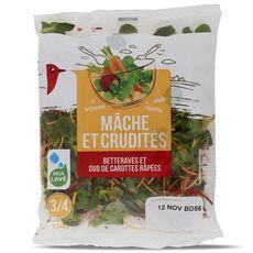AUCHAN Auchan salade mâche et crudité 150g