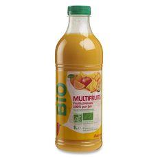 Auchan bio Pur jus multifruits 1L