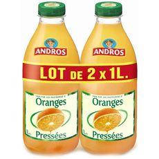 ANDROS Andros Pur jus d'oranges pressées 2x1L 2x1L