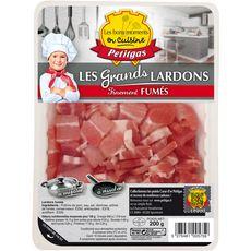 PETITGAS Grands lardons fumés 200g