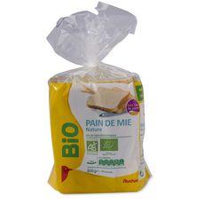 Auchan pain de mie grandes bio tranches 500g