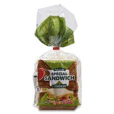 Auchan Pain de mie aux céréales sans huile de palme14 tranches 550g