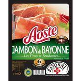Aoste jambon de Bayonne fin et fondant tranche x6 -100g