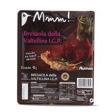 AUCHAN MMM! Bresaola Viande de bœuf séchée de Valteline IGP 8 tranches 90g