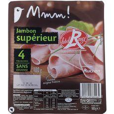 Auchan Gourmet jambon supérieur dégraissé 4 tranches 180g
