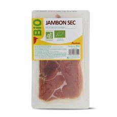 AUCHAN BIO Jambon sec 4 tranches 80g