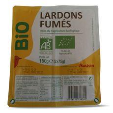 AUCHAN BIO Auchan Bio Lardons fumés 2x75g 2x75g
