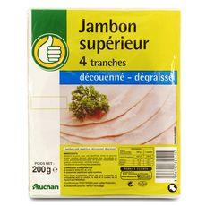 Pouce Jambon supérieur sans couenne 4 tranches 200g