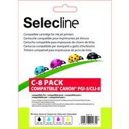 Cartouche 4 Couleurs C 8 PACK SELECLINE Pas Cher A Prix Auchan