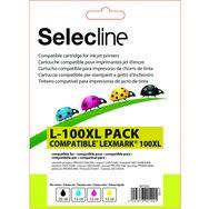 SELECLINE Cartouche 4 Couleurs L-100 XL PACK