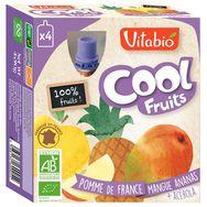 Vitabio cool fruits pomme mangue ananas bio 4x90g