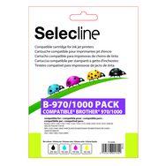 SELECLINE Cartouche 4 Couleurs B-970/1000 PACK