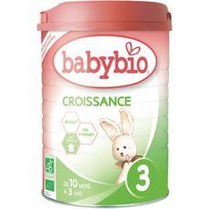 Babybio Lait de croissance  en poudre de 10 mois à 3 ans 900g