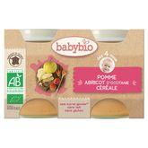 Babybio pot pomme abricot dès 4 mois 2x130g
