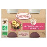 Babybio pot pomme myrtille dès 4 mois 2x130g