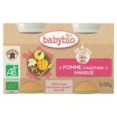 Babybio pot bio pomme mangue 2x130g dès 4 mois