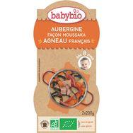 Babybio assiette aubergines moussaka agneau 2x200g dès8mois