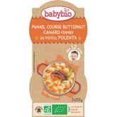 Babybio panais courge butternut canard polenta 2x200g 12mois
