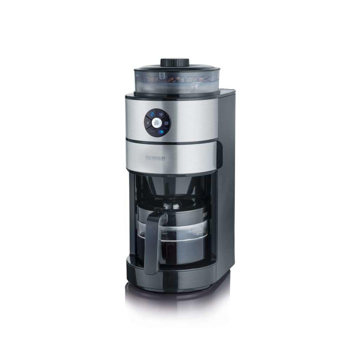 Cafetière filtre avec broyeur KA4811 inox brossé/noir