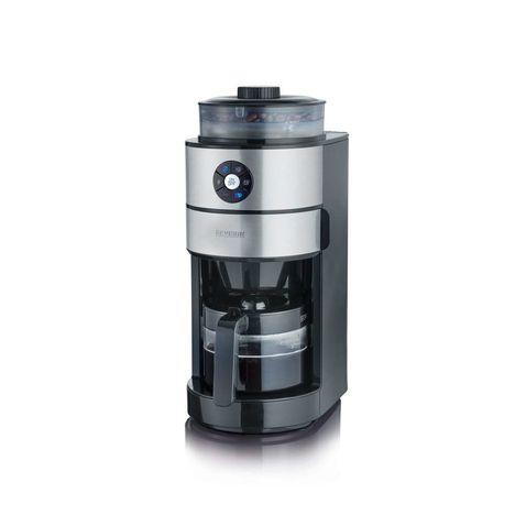 SEVERIN Cafetière filtre avec broyeur KA4811 inox brossé/noir