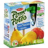 Materne Pom'potes sans sucre ajouté pomme poire 4x90g