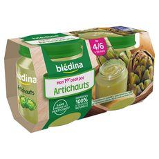 Blédina pot artichaut 2x130g dès 4 mois