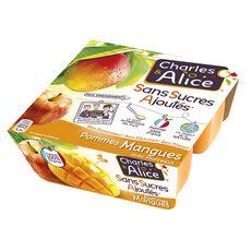 Charles & Alice pomme mangue sans sucre ajouté 4x100g
