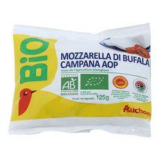AUCHAN BIO Mozzarella bufala AOP 125g