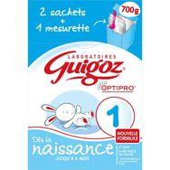 Guigoz 1 1er âge bag in box 2x350g de 0 à 6 mois