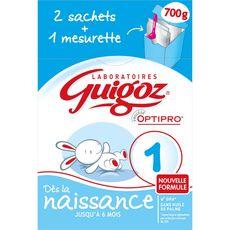 GUIGOZ Guigoz 1 1er âge bag in box 2x350g de 0 à 6 mois