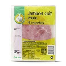 Pouce Jambon sans couenne 4 tranches 180g