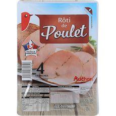 AUCHAN Rôti de Poulet 4 tranches 160g
