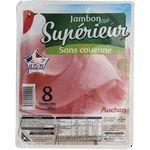 Auchan jambon supérieur découenné dégraissé 8 tranches 360g