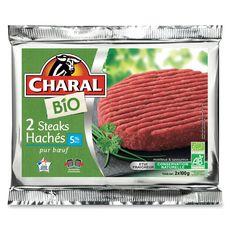 Charal Steaks hachés 5%mg bio 2x100g