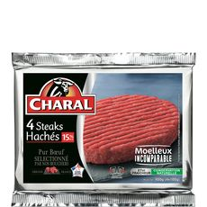 Charal steak haché 15%mg 4x100g