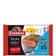 CHARAL Charal Tendre de boeuf x6 -600g 6 pièces 600g