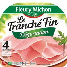 Fleury Michon Le Tranché Fin Jambon dégustation sans couenne 4 tranches120g