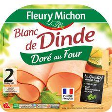 FLEURY MICHON Fleury Michon blanc de dinde doré au four 2 tranches 80g