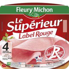Fleury Michon jambon découenné Label Rouge 4 tranches 160g