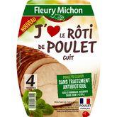 Fleury Michon j'aime rôti de poulet tranche x4 -140g