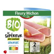Fleury Michon bio jambon avec couenne 2 tranches 80g