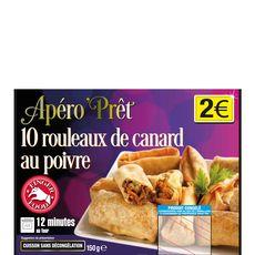 APERO'PRET Apéro'Prêt rouleaux de canard au poivre x10 -150g