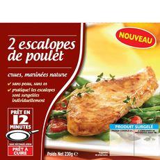 Escalopes de poulet mariné 2 pièces 230g