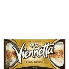 Viennetta dessert glace biscuit caramel 7 parts 350g