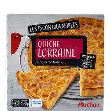 AUCHAN Quiche Lorraine 400g